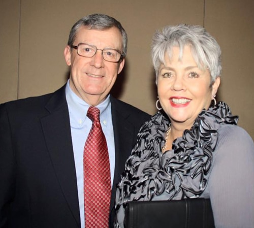Walter Wood with his wife, Kelley Parris<br> at the Person of Vision dinner